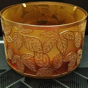 Yankee Candle Amber Leaves Candle Holder